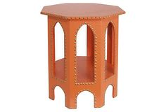 Studded Moroccan Table, Orange