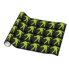 Green Zombie Gift Wrapping Paper
