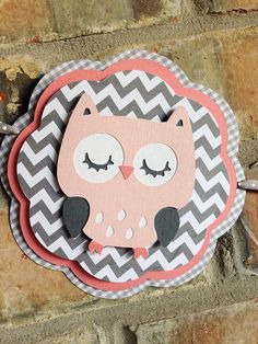 Vieira Banner rosados y grises del buho buho Baby por Skrapologie Chevron Banner, Owl Banner, Owl Nursery, Nursery Decor, Its A Girl Banner, Cute Banners, Baby Shower, Baby Owls, Baby Party