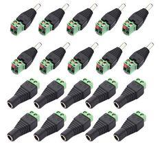 ¡ Promoción! 10 Pares de Sexo Masculino y Femenino 2.1x5.5mm DC Power Plug Conector del Adaptador de Conector Para CCTV