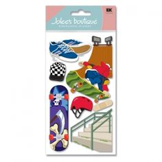 Happy Friday from Cozy's Scrapbooking. This week's Friday featured item is Jolee's scrapbooking sticker Skateboarding item SPJBLG276.    $1.50