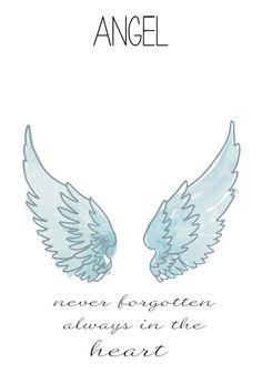 Personalisierte Gaurdian Engel Flügel Collier von EllaKateJewelry