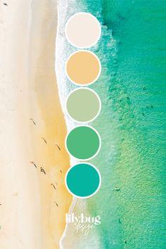 Lilybug Design Color Palette - Sea Colour Schemes, Color Combos, Color Patterns, Water Pictures, Sea Colour, Oceans Of The World, Color Palate, Color Stories, Ohana