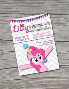 My Little Pony Party Birthday Invitation by TheBurchsDesigns, $18.00