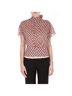RED VALENTINO Red Valentino Bow Detail Leaves Print Shirt. #redvalentino #cloth #https: