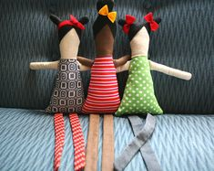 I made some dolls for miss plum and the bird out of vintage ... bleubirdvintage.typepad.com