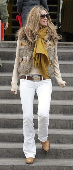 Elements of Style Blog   Fashion Friday: White Jeans in Winter   http://www.elementsofstyleblog.com