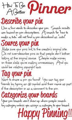 How To Be A Better Pinner #Pinterest, #pinning #Socialmedia