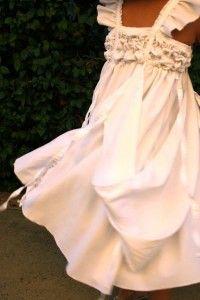 pretty upcycled girls dress