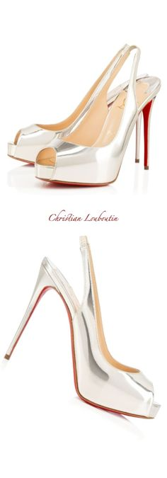 Christian Louboutin ~ Private Number Beige Leather Platform Pumps