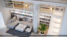 living room / book space