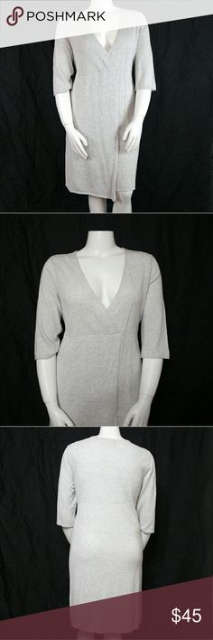 "J. Jill Faux Wrap Linen Blend Sweater Dress Bust 44"", length 41"". Material 55% linen & 45% cotton. Add to a bundle to receive 20% off 3 or more items. Offers welcomed. e5. J. Jill Dresses"
