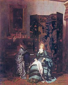 A Chinese Coromandel screen is seen in the oil painting Chopin by Albert von Keller.Coromandel screen - Wikipedia, the free encyclopedia Art Nouveau, Lightning Strikes, Figure Painting, Victorian Era, Chinoiserie, Contemporary Artists, Great Artists, Impressionism, Art History