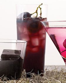Spiced Concord Grape Punch (1 gallon Concord grape juice  8 cardamom pods  4 cinnamon sticks  1 tsp fresh grated nutmeg  1 1/3 cups Danny Meyer's Simple Syrup  7 cups vodka)