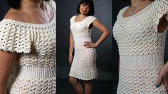 """Платье """"Зефирка"""" крючком. Часть №1.Dress crochet """"Zephyr"""",part 1. Englis..."""