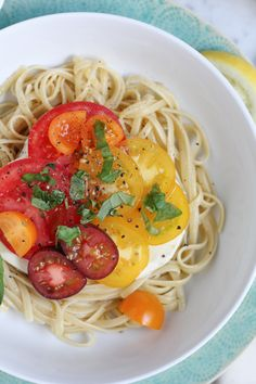 Summer Pasta with Fresh Mozzarella and Tomatoes
