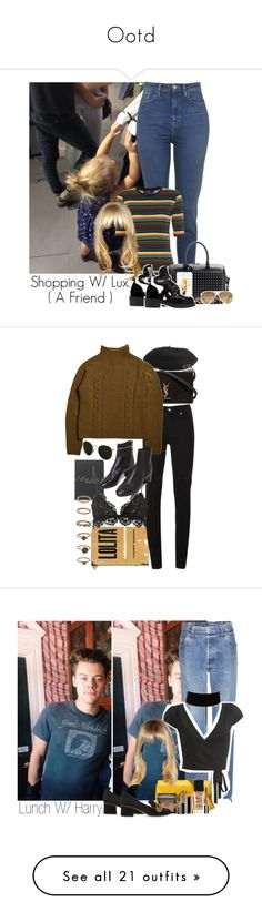 """""""Ootd"""" by veronice-lopez ❤ liked on Polyvore featuring Motel, Yves Saint Laurent, Balenciaga, Ray-Ban, Pull&Bear, OneDirection, harrystyles, LiamPayne, NiallHoran and louistomlinson"""