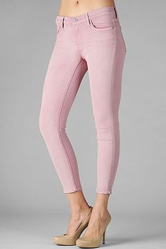 7 For All Mankind, The Crop Skinny in Mauve, $169