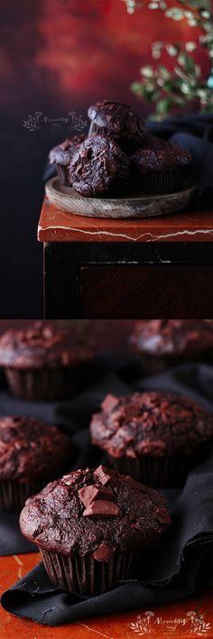 Muffins de chocolate http://merceditasbakery.blogspot.com.es/