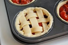 Mini Cherry Pie, I need to make these in blueberry & apple!!