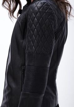 Nicole Lamb Leather Moto | Black | 104030605 | $199 Leather Jacket Outfits, All Black Everything, Autumn Fashion Casual, Fall Collections, Moto Jacket, Lamb, Winter Jackets, Official Store, Cl