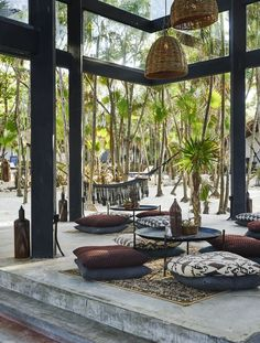 new rustic beach hotel is designed with wellness in mind The lobby area of Habitas Tulum.The lobby area of Habitas Tulum. Design Hotel, Bar Interior Design, Lobby Design, Interior Modern, Kaanapali Beach Hotel, Tulum Beach Hotels, Tulum Mexico Resorts, Positano Hotels, Jamaica Hotels