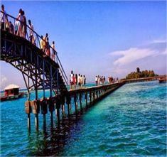 jembatan cinta tempat wisata pulau tidung