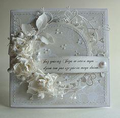 white on white handmade card --- White-on-White #WhiteOnWhite White on White