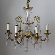 Gilt bronze chandelier lighting Cut glass pendants Antique chandelier Pendant light French rococo style ceiling light Dining room Living Bronze Chandelier, Antique Chandelier, Chandelier Pendant Lights, French Rococo, Rococo Style, Dining Room Lighting, Cut Glass, Glass Pendants, French Antiques