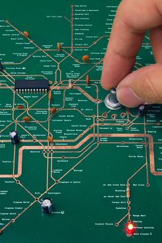 TUBE MAP RADIO BY YURI SUZUKI Self-explanatory: Tube Map Radio by Yuri Suzuki explains its own inner workings with annotations and a map-like layout of the printed circuit board its built on, an idea inspired by an electrical diagram created by draftsman Harry Beck to spoof his own iconic, color-coded, widely copied London subway map (introduced in 1933).