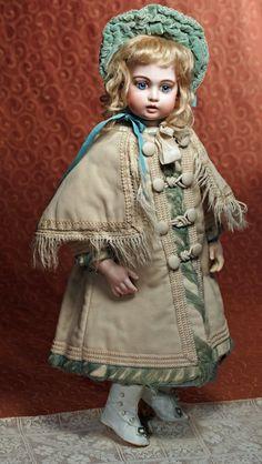 Antique French Circle Dot Bru Bebe doll.