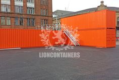 We recently converted 7 40ft high cube containers into a pop up shop for the Glasgow 2014 Commonwealth Games. Contact Lion Containers today or read our case study for further information.