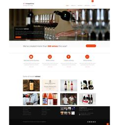 Wine Template Black&White  Details: HTML5, CSS3  Responsive template, flat design, unlimited colors, components and elements compatible with twitter bootstrap, 3rd level menu, 56 animations easy to add to any element or area by adding short class name, all elements 100% compatible with bootstrap, theme color separated in single css file so it's easy to customize or change theme color, Nivo slider, Parallax contect slider, slit slider, mobile frendly, filterable portfolio, zoom portfolio item