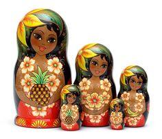 Hawaiian Stacking Dolls