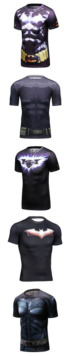 New Batman Superman Fitness Compression T-Shirt Men Cosplay Male Crossfit Bodybuilding Men's 3D Printed Top Bodybuilding Shirt