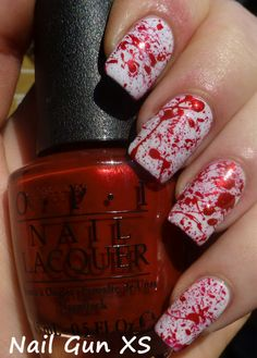 "Nail Gun XS: ""This is Halloween"" Nail Art Challenge - October 1 Horror Movies"