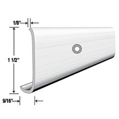 8234AW -- Edge Molding 1-1/2 Wide, White. Sold in 8 foot Lengths
