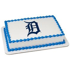 Detroit Tigers MLB Edible Cake Topper | My Party Helpers | http://mypartyhelpers.com/products/detroit-tigers-mlb-edible-cake-topper