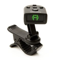 NS Micro Universal Tuner - Clip-on mount provides quick application and limitless viewing angles;  Built-in piezo transducer picks up instrument's vibration rather than sound;  Tri-color reversible backlit LCD screen makes it easy to tune in dark environments;  Wide calibration range (410Hz to 480Hz) and visual metronome