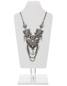 Delhi Urban Embellished Necklace   Silver   Accessorize