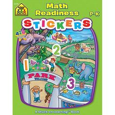 School Zone Sticker Workbook, Math Readiness, Grades P-K