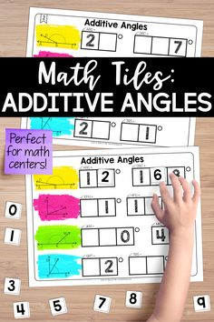 Foster a true understanding of the additive nature of complementary and supplementary angles. These math tiles require students to place 10 number tiles on the Time to Tile cards to correctly find the missing angle measurements. Teaching Critical Thinking, Teaching Math, Math Stations, Math Centers, Art Lessons Elementary, Elementary Schools, Sixth Grade, Third Grade, 4th Grade Math