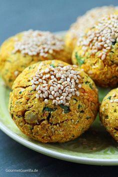 Süßkartoffel-Falafeln #vegan #lowfat #rezept #gourmetguerilla