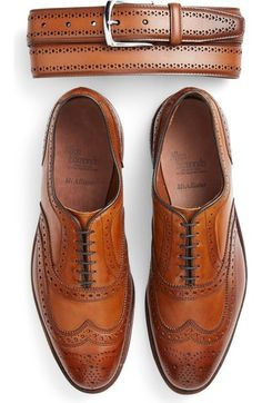 Free shipping and returns on Allen Edmonds 'McAllister' Wingtip (Men) (Online Only) at Nordstrom.com. Perforated trim with pinked edging adds rich detail to a timeless wingtip crafted from smooth calfskin leather in a smart fit that accommodates higher arches. Allen Edmonds has been making shoes in America for nearly 100 years using fine leathers, a 212-step crafting process and 360° Goodyear welt construction to allow for recrafting to extend the life of the shoe. #carolinaherrera #212vip…