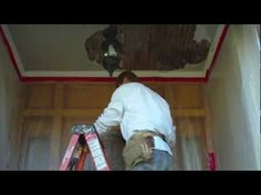 How to repair an exterior porch stucco or plaster ceiling. - http://www.thehowto.info/how-to-repair-an-exterior-porch-stucco-or-plaster-ceiling/