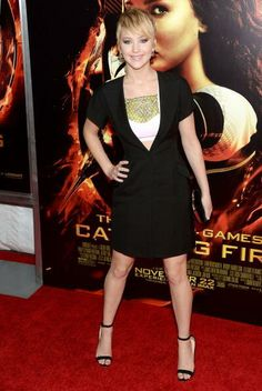 Jennifer Lawrence in Christian Dior at 'The Hunger Games: Catching Fire' New York Premiere