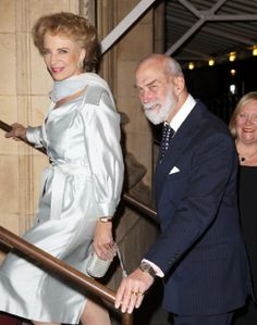 Princess Michael of Kent and Prince Michael of Kent attend Ceiliuradh at the Royal Albert Hall during the State Visit by Irish President Michael D Higgins on 10.04.14 in London.