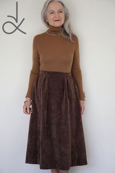 The Everyday Skirt in corduroy - you could make it in a day. Watch the Sew Along Corduroy Skirt, Pdf Sewing Patterns, Different Fabrics, Dressmaking, New Look, Dress Skirt, Couture, Watch, Skirts