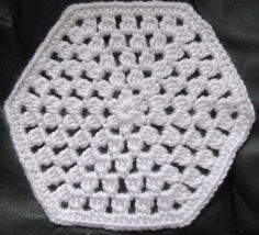 Free Crochet Pattern - DC Cluster Hexagon Granny from the Afghans Free Crochet Patterns Category and Knit Patterns
