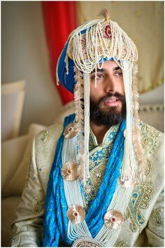 Check out all about groom sehra trends and latest designs spotted at Indian weddings. Groom accessories and wedding outfits on ShaadiWish. Sikh Wedding, Punjabi Wedding, Farm Wedding, Wedding Couples, Boho Wedding, Wedding Reception, Wedding Ideas, Indian Man, Indian Groom